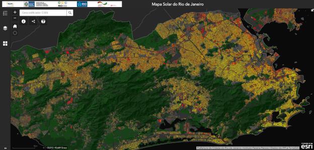Mapa Solar do Rio de Janeiro