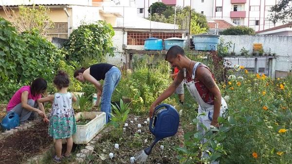 Na Horta da Saúde, também se discute temas ligados ao meio ambiente, permacultura, agricultura orgânica e sustentável.Foto: Sergio Shigeeda