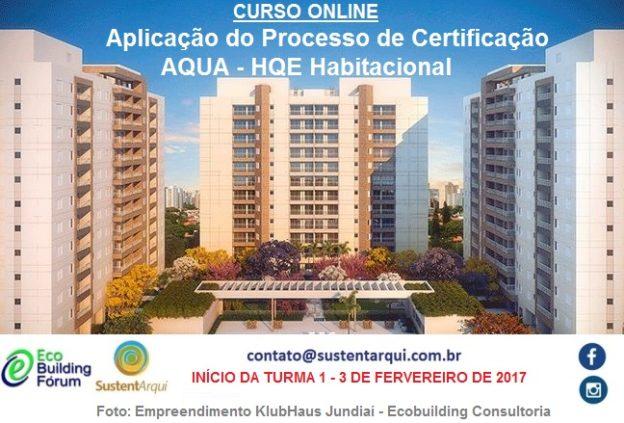 Curso online Certificação AQUA
