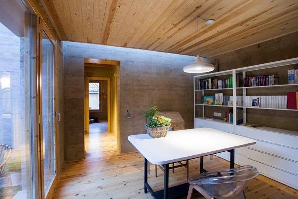 casa de terra premiada interior