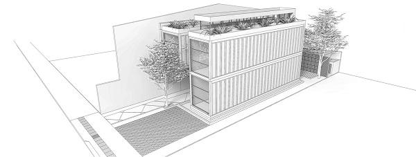 Construção em Container em Itajaí perspectiva