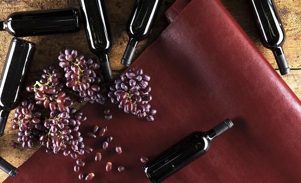 couro ecologico vinho