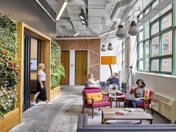 jardins verticais em escritórios - Etsy-Office