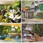 10 incríveis jardins verticais em escritórios