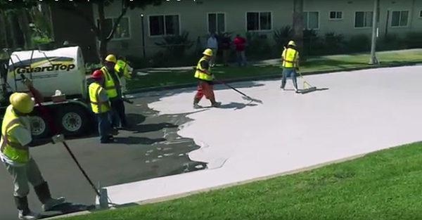 los angeles pintando as ruas de branco