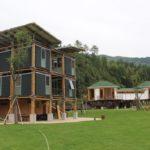 Casa de bambu eficiente inspirada nos conceitos do Feng Shui
