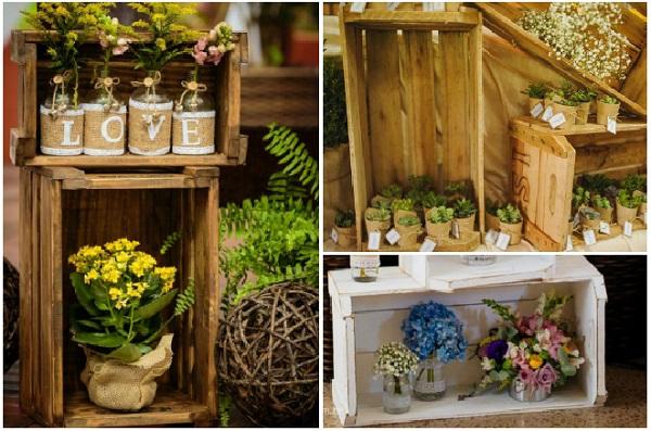 Caixotes de feira para jardim