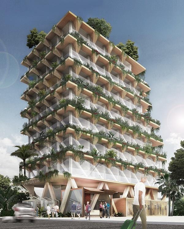 Edifício verde em São paulo