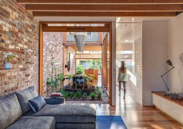 casa autossustentável interior